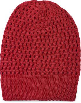 styleBREAKER Strick Beanie Mütze mit Loch Muster, Slouch Longbeanie Winter, Strickmütze, Unisex 04024139 – Bild 4