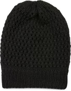styleBREAKER Strick Beanie Mütze mit Loch Muster, Slouch Longbeanie Winter, Strickmütze, Unisex 04024139 – Bild 2