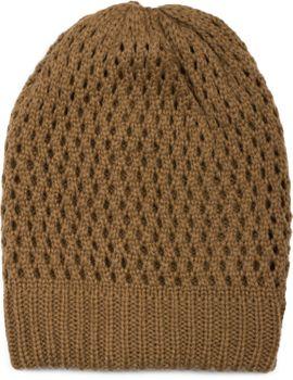 styleBREAKER Strick Beanie Mütze mit Loch Muster, Slouch Longbeanie Winter, Strickmütze, Unisex 04024139 – Bild 1