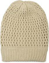styleBREAKER Strick Beanie Mütze mit Loch Muster, Slouch Longbeanie Winter, Strickmütze, Unisex 04024139 – Bild 6