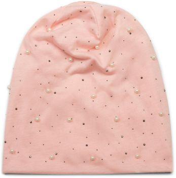 styleBREAKER Beanie Mütze mit Perlen und Strass Nieten, Slouch Longbeanie, Damen 04024140 – Bild 2