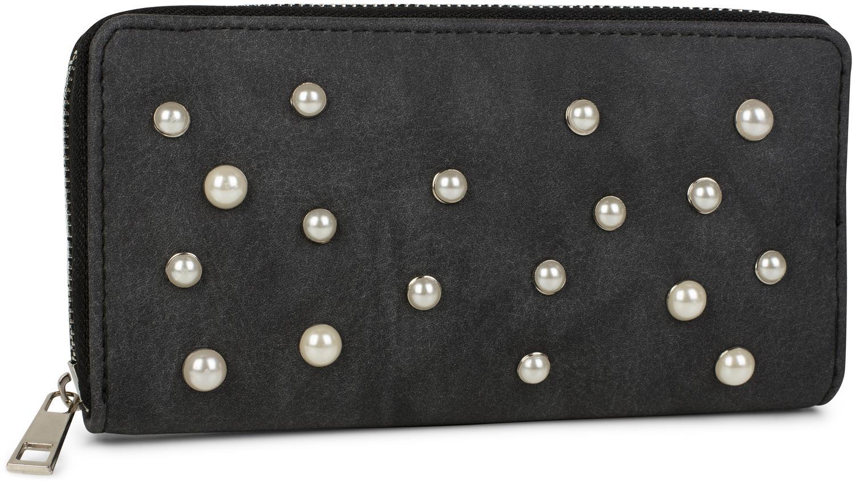 2776b99f432f5 styleBREAKER Geldbörse mit Perlen besetzter Vorderseite