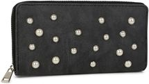 styleBREAKER Geldbörse mit Perlen besetzter Vorderseite, umlaufender Reißverschluss, Portemonnaie, Damen 02040092 – Bild 1