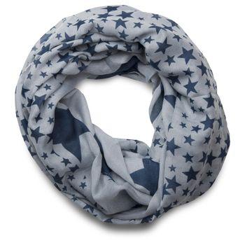 styleBREAKER Sterne Muster Loop Schlauchschal, große und kleine Sterne, Unisex 01016057 – Bild 2