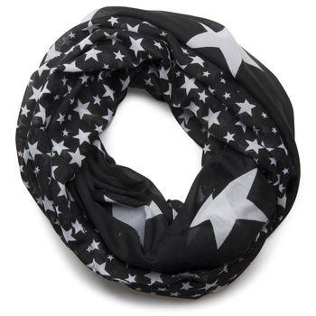 styleBREAKER Sterne Muster Loop Schlauchschal, große und kleine Sterne, Unisex 01016057 – Bild 10