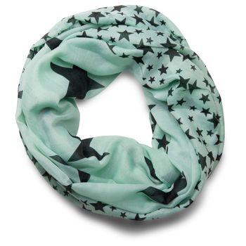 styleBREAKER Sterne Muster Loop Schlauchschal, große und kleine Sterne, Unisex 01016057 – Bild 5