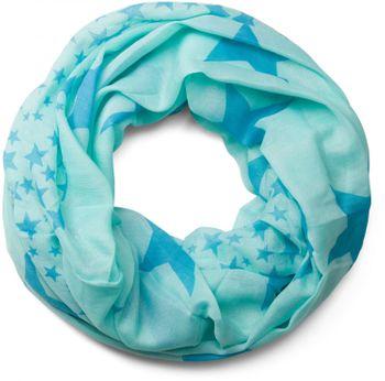 styleBREAKER star pattern loop tube scarf, large and small stars, unisex 01016057 – Bild 14