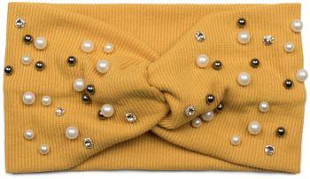 styleBREAKER Damen Haarband in Feinripp Optik mit Schleife, Strass und Perlen, Twist Knoten, Stirnband, Headband 04026011 – Bild 5