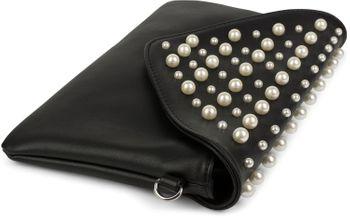 styleBREAKER Envelope Clutch im Kuvert Design mit großen und kleinen Perlen, Abendtasche, Damen 02012217 – Bild 2