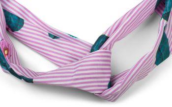 styleBREAKER gestreiftes Haarband mit Twist Knoten, Blumen und Gummizug, Stirnband, Headband, Damen 04026013 – Bild 5