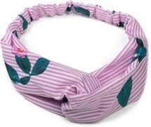 styleBREAKER Damen Haarband gestreift mit Twist Knoten, Blumen und Gummizug, Stirnband, Headband, Haarschmuck 04026013 – Bild 3