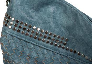 styleBREAKER Hobo Bag Handtasche mit Flecht-Optik und Nieten, Shopper, Schultertasche, Tasche, Damen 02012219 – Bild 17
