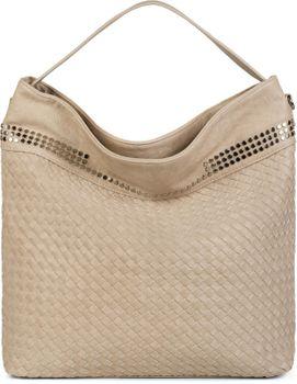 styleBREAKER Hobo Bag Handtasche mit Flecht-Optik und Nieten, Shopper, Schultertasche, Tasche, Damen 02012219 – Bild 6