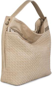 styleBREAKER Hobo Bag Handtasche mit Flecht-Optik und Nieten, Shopper, Schultertasche, Tasche, Damen 02012219 – Bild 13