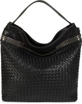 styleBREAKER Hobo Bag Handtasche mit Flecht-Optik und Nieten, Shopper, Schultertasche, Tasche, Damen 02012219 – Bild 5