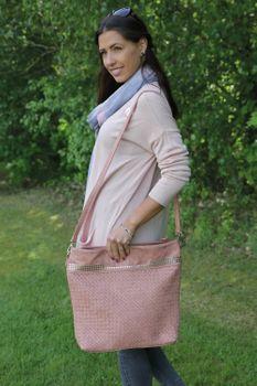 styleBREAKER Hobo Bag Handtasche mit Flecht-Optik und Nieten, Shopper, Schultertasche, Tasche, Damen 02012219 – Bild 31
