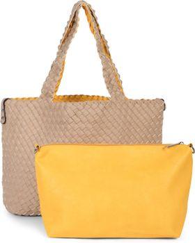 styleBREAKER XXL Wendetasche in Flecht-Optik, Shopper Tasche, 2 Taschen, Handtaschen Set, Bag in Bag, Schultertasche, Damen 02012163 – Bild 61
