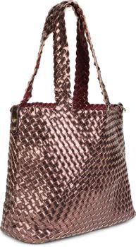 styleBREAKER XXL Wendetasche in Flecht-Optik, Shopper Tasche, 2 Taschen, Handtaschen Set, Bag in Bag, Schultertasche, Damen 02012163 – Bild 4