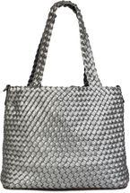 styleBREAKER XXL Wendetasche in Flecht-Optik, Shopper Tasche, 2 Taschen, Handtaschen Set, Bag in Bag, Schultertasche, Damen 02012163 – Bild 17
