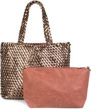 styleBREAKER XXL Wendetasche in Flecht-Optik, Shopper Tasche, 2 Taschen, Handtaschen Set, Bag in Bag, Schultertasche, Damen 02012163 – Bild 1