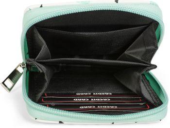 styleBREAKER Mini Geldbörse mit Kaktus Muster, umlaufender Reißverschluss, Portemonnaie, Damen 02040096 – Bild 3