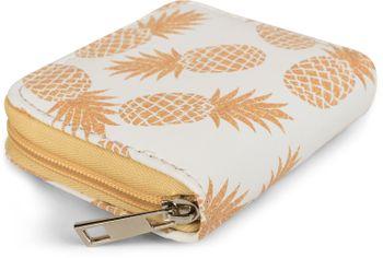 styleBREAKER Mini Geldbörse mit Ananas Muster, umlaufender Reißverschluss, Portemonnaie, Damen 02040097 – Bild 2