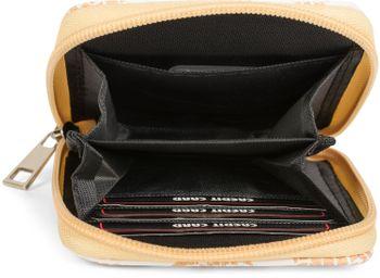 styleBREAKER Mini Geldbörse mit Ananas Muster, umlaufender Reißverschluss, Portemonnaie, Damen 02040097 – Bild 3