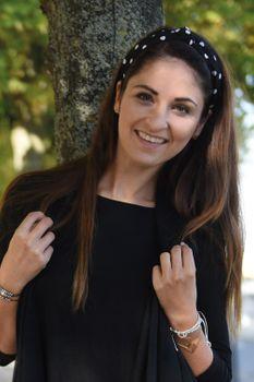 styleBREAKER Haarreif mit Punkte Muster und Knoten im Retro Style, Haarband, Headband, Damen 04026015 – Bild 5