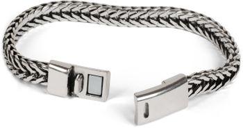styleBREAKER flaches Zopfketten Armband mit Magnetverschluss, Kette, Schmuck, Unisex 05040131 – Bild 11