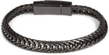 styleBREAKER flaches Zopfketten Armband mit Magnetverschluss, Kette, Schmuck, Unisex 05040131 – Bild 4