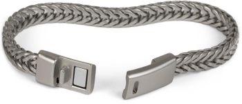styleBREAKER flaches Zopfketten Armband mit Magnetverschluss, Kette, Schmuck, Unisex 05040131 – Bild 7