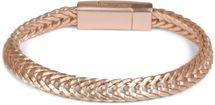 styleBREAKER flaches Zopfketten Armband mit Magnetverschluss, Kette, Schmuck, Unisex 05040131 – Bild 2