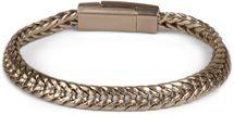 styleBREAKER flaches Zopfketten Armband mit Magnetverschluss, Kette, Schmuck, Unisex 05040131 – Bild 3