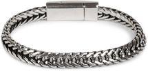 styleBREAKER flaches Zopfketten Armband mit Magnetverschluss, Kette, Schmuck, Unisex 05040131 – Bild 5