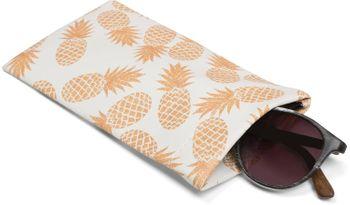 styleBREAKER Etui für Sonnenbrillen mit Ananas Print und Putztuch, Brillenetui mit Schnappverschluss, Damen 09020076 – Bild 4