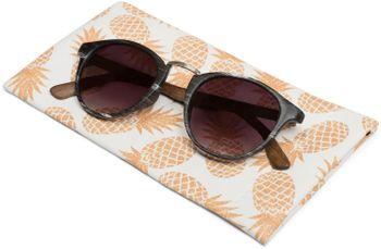 styleBREAKER Etui für Sonnenbrillen mit Ananas Print und Putztuch, Brillenetui mit Schnappverschluss, Damen 09020076 – Bild 3