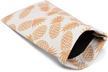styleBREAKER Etui für Sonnenbrillen mit Ananas Print und Putztuch, Brillenetui mit Schnappverschluss, Damen 09020076 – Bild 1