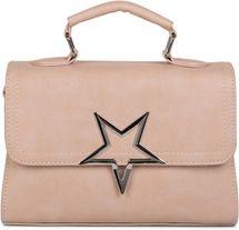 styleBREAKER Satchel Henkeltasche mit großem Stern am Umschlag, Handtasche, Tasche, Damen 02012225 – Bild 1
