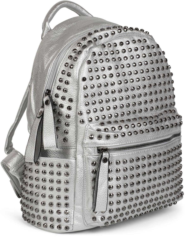 rucksack handtasche mit nieten rei verschluss spitznieten tasche bag damen ebay. Black Bedroom Furniture Sets. Home Design Ideas