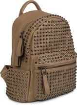styleBREAKER Rucksack Handtasche mit Nieten, Reißverschluss, Tasche, Damen 02012226 – Bild 2
