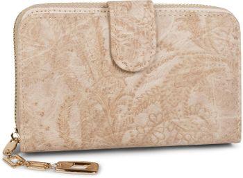 styleBREAKER Geldbörse mit Paisley Blumen Blüten Prägung, umlaufender Reißverschluss, Portemonnaie, Damen 02040098 – Bild 6