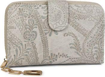 styleBREAKER Geldbörse mit Paisley Blumen Blüten Prägung, umlaufender Reißverschluss, Portemonnaie, Damen 02040098 – Bild 5