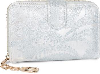 styleBREAKER Geldbörse mit Paisley Blumen Blüten Prägung, umlaufender Reißverschluss, Portemonnaie, Damen 02040098 – Bild 15