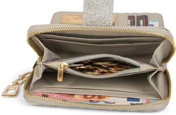 styleBREAKER Geldbörse mit Paisley Blumen Blüten Prägung, umlaufender Reißverschluss, Portemonnaie, Damen 02040098 – Bild 24