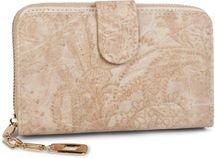styleBREAKER Geldbörse mit Paisley Blumen Blüten Prägung, umlaufender Reißverschluss, Portemonnaie, Damen 02040098 – Bild 1