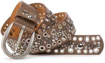 styleBREAKER Nietengürtel mit Lochnieten und Strass im Vintage Style, Nieten Gürtel, kürzbar, Damen 03010026 – Bild 4