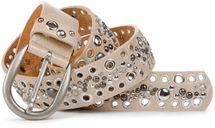 styleBREAKER Nietengürtel mit Lochnieten und Strass im Vintage Style, Nieten Gürtel, kürzbar, Damen 03010026 – Bild 16