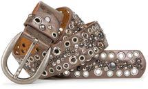 styleBREAKER Nietengürtel mit Lochnieten und Strass im Vintage Style, Nieten Gürtel, kürzbar, Damen 03010026 – Bild 9