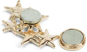 styleBREAKER Magnet Schmuck Anhänger mit versetzt angeordneten Strass besetzten Sternen für Schals, Tücher oder Ponchos, Brosche, Damen 05050061 – Bild 15