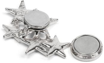 styleBREAKER Magnet Schmuck Anhänger mit versetzt angeordneten Strass besetzten Sternen für Schals, Tücher oder Ponchos, Brosche, Damen 05050061 – Bild 10